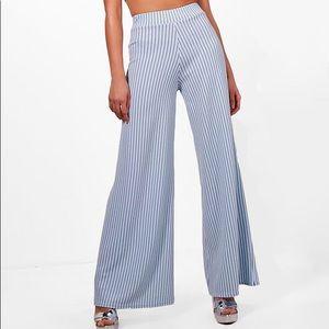 Tall pinstripe trousers